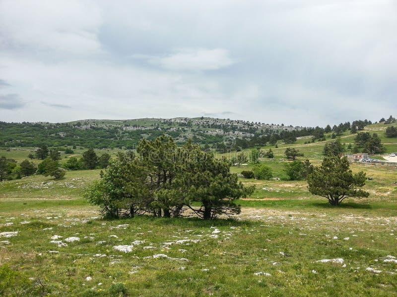 Berglandschap op het Schiereiland van de Krim royalty-vrije stock afbeeldingen