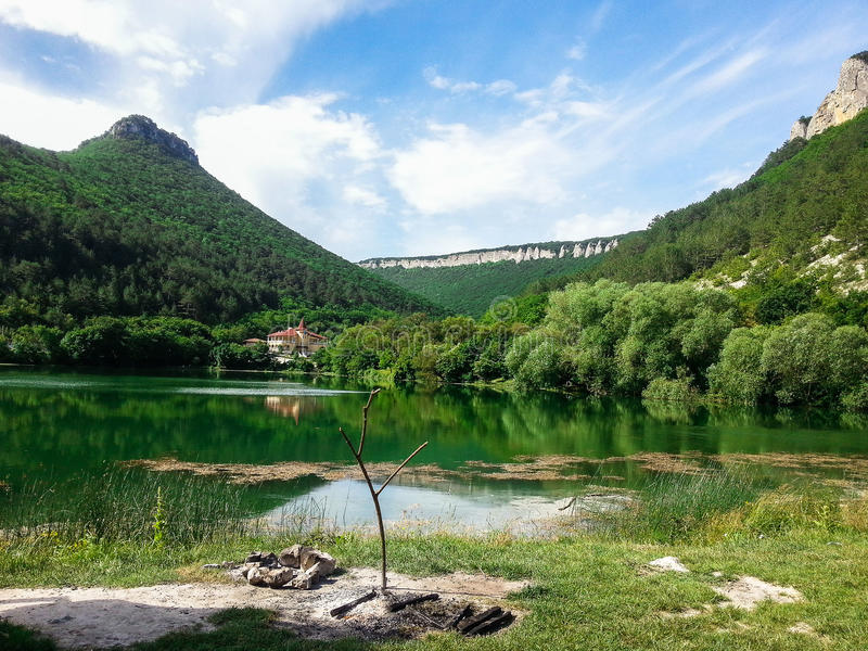 Berglandschap op het Schiereiland van de Krim royalty-vrije stock fotografie