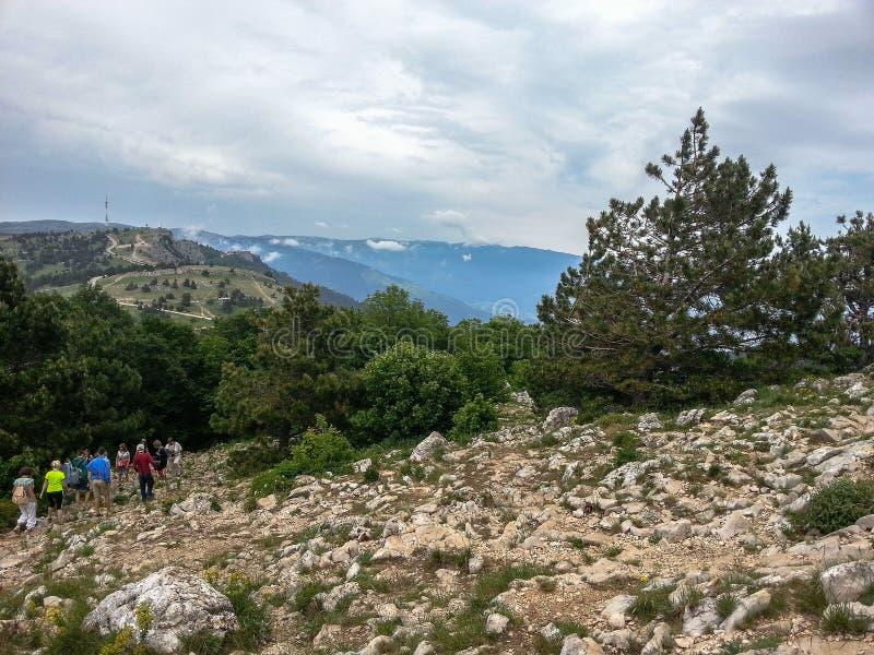 Berglandschap op het Schiereiland van de Krim stock afbeeldingen