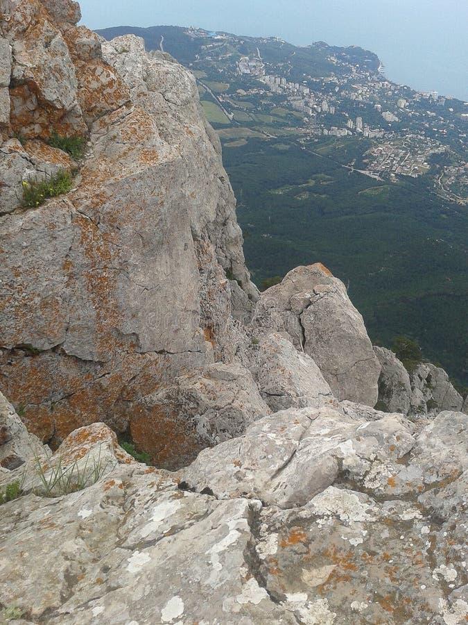 Berglandschap op het Schiereiland van de Krim royalty-vrije stock foto