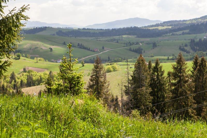 Berglandschap, schoonheid van aard stock afbeelding