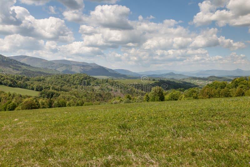 Berglandschap, schoonheid van aard stock afbeeldingen