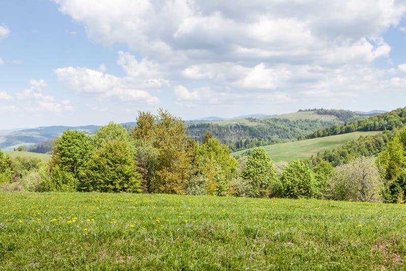 Berglandschap, schoonheid van aard royalty-vrije stock afbeelding