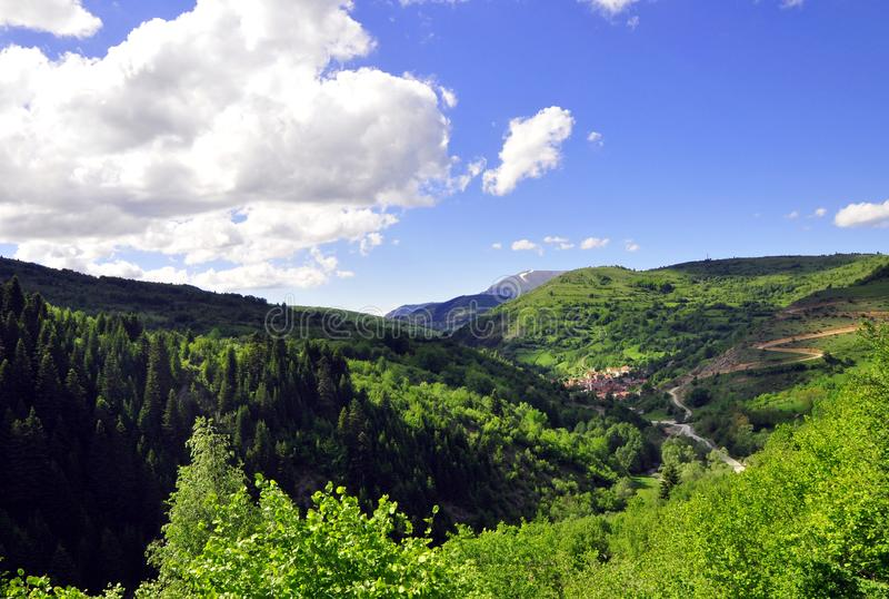 Berglandschap, Shar-berg, Kosovo stock foto