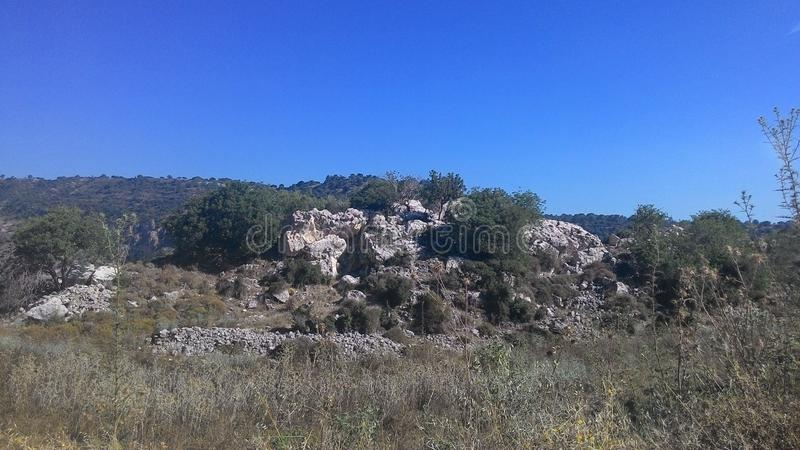 Berglandschap van het Eiland Cyprus stock fotografie