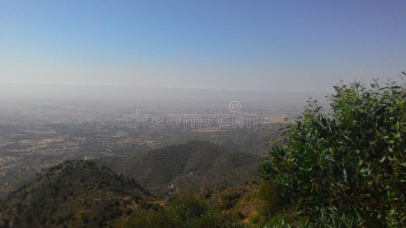 Berglandschap van het Eiland Cyprus stock foto