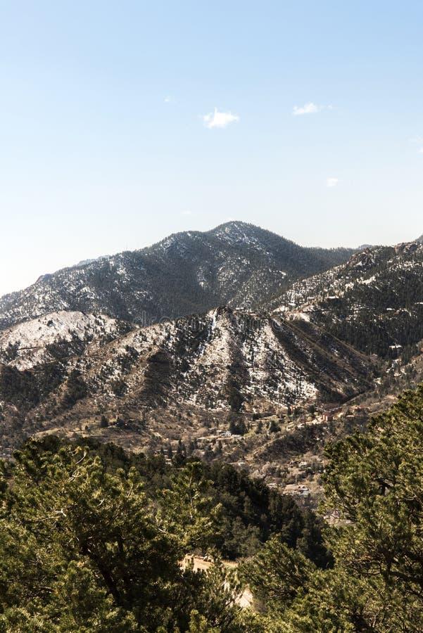 Berglandschappen van hol van de windenweg Colorado Springs royalty-vrije stock afbeeldingen