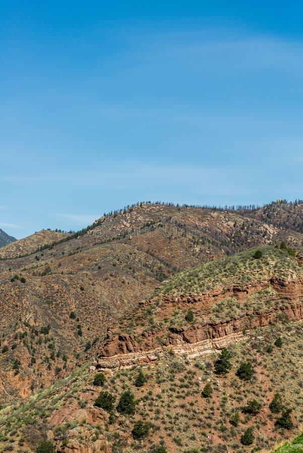 Berglandschappen van hol van de windenweg Colorado Springs stock foto's