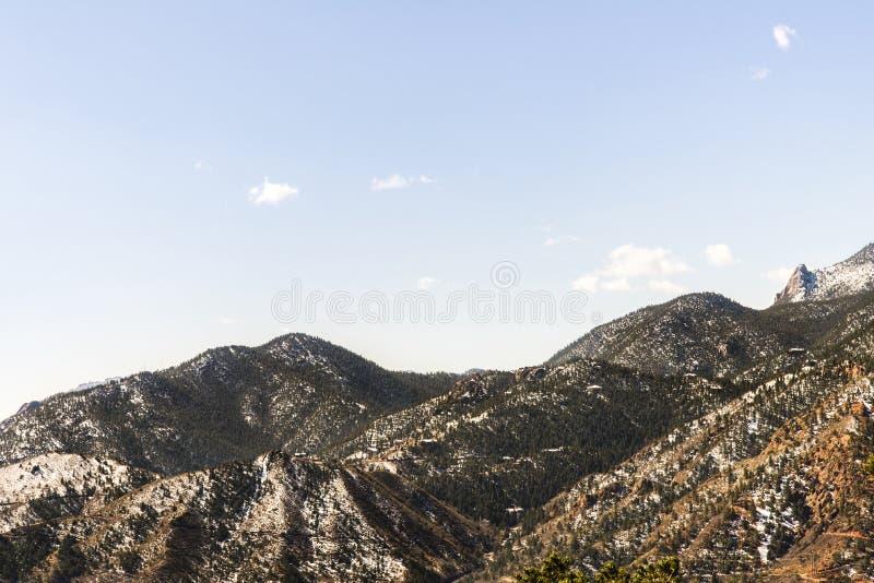 Berglandschappen van hol van de windenweg Colorado Springs royalty-vrije stock fotografie