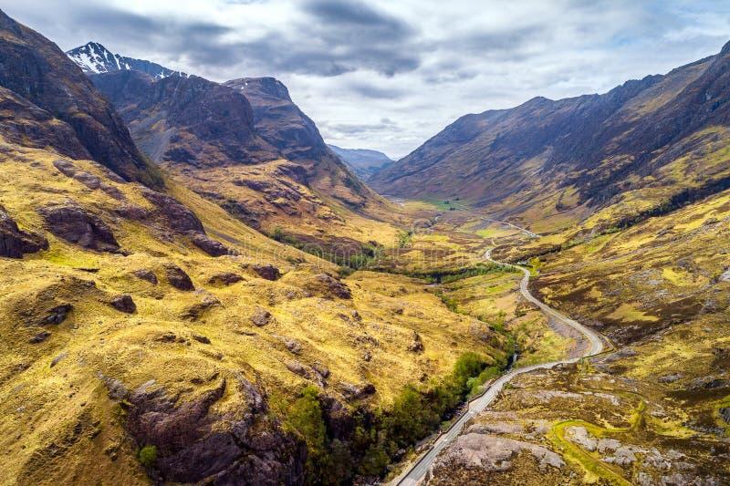 Berglandskap av Glen Coe fotografering för bildbyråer