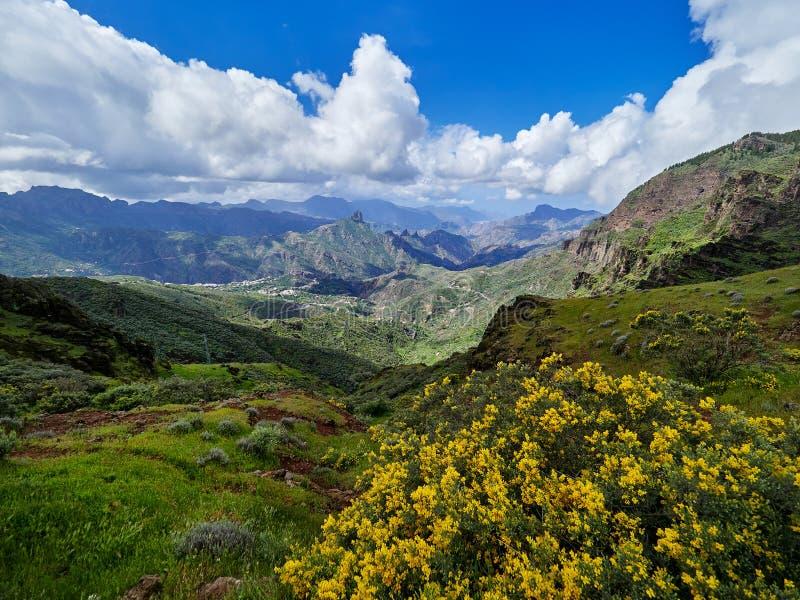 Berglandskap i den Gran Canaria ön, kanariefågelöar, Spanien royaltyfri fotografi