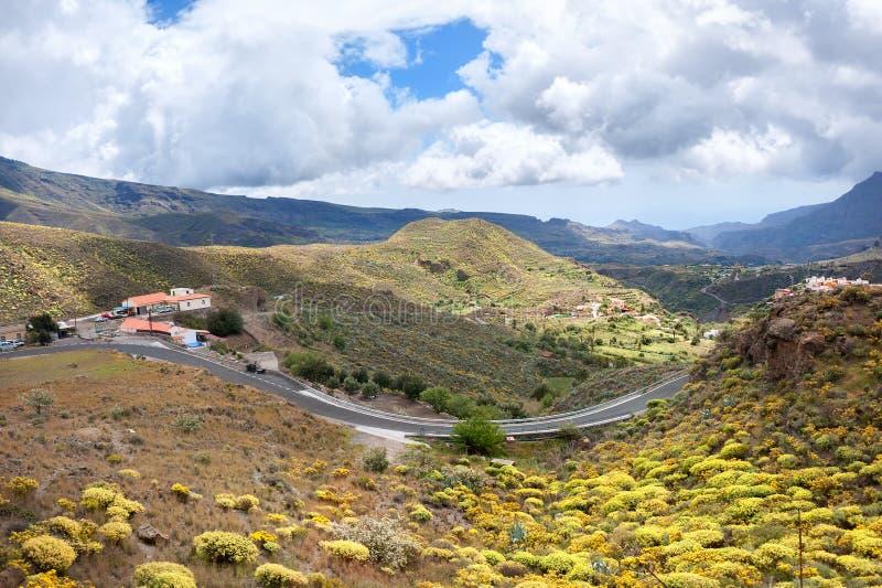 Berglandskap i Gran Canaria arkivfoto