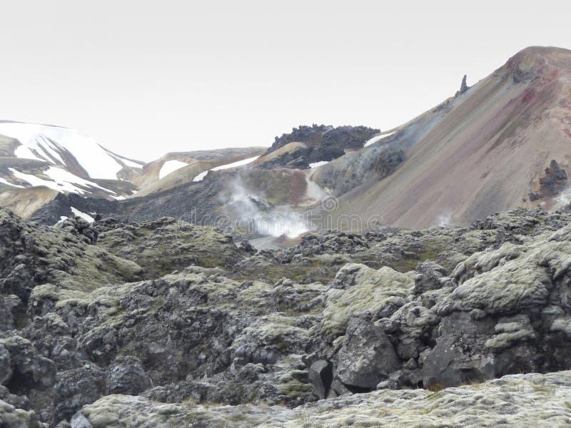 Berglandskap i Island royaltyfri bild