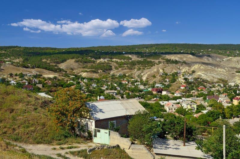 Berglandskap i Krim arkivbilder