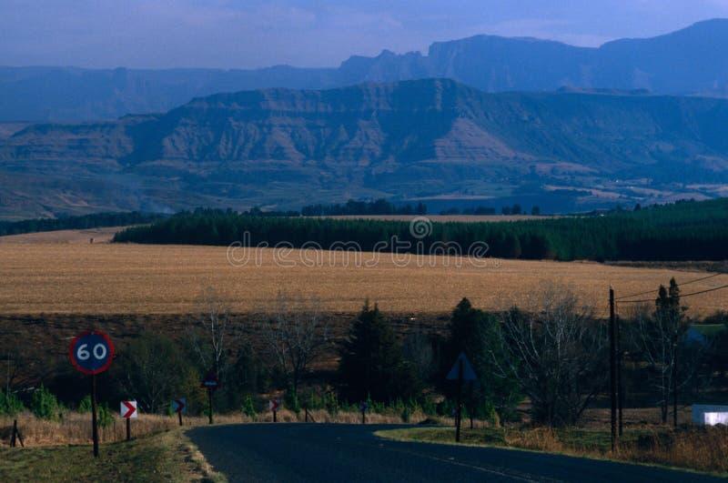 Berglandskap, Sydafrika. royaltyfri bild
