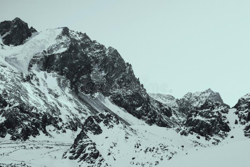 Berglandskap, Tien-Shan Mountains, Kasakhstan arkivbilder
