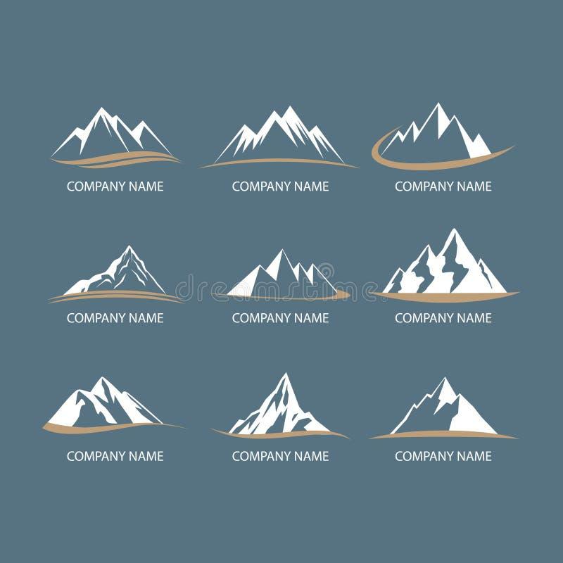 Berglogoer vektor illustrationer