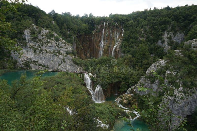 Bergmeer Plitvice in Kroatië royalty-vrije stock foto's