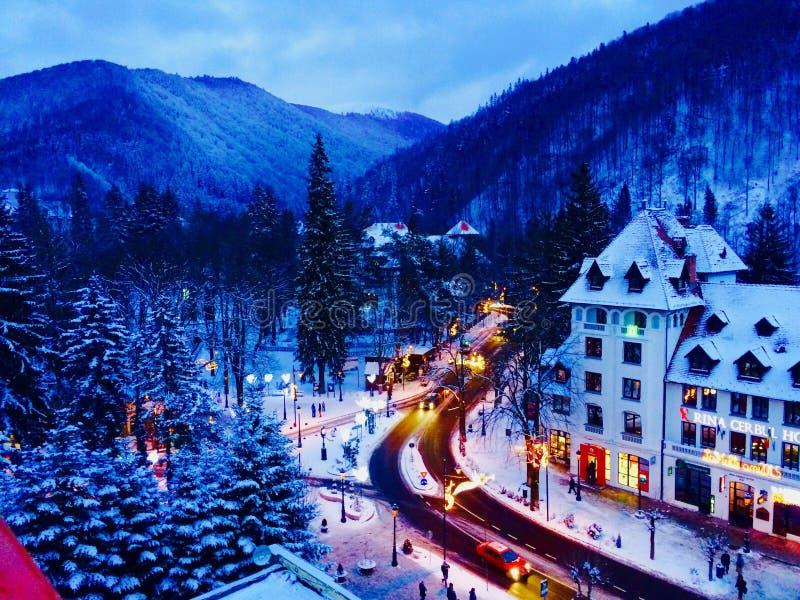 Bergmening in de winter royalty-vrije stock foto