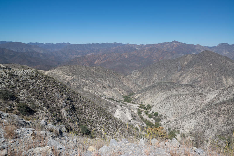 Bergmening, Oaxaca royalty-vrije stock afbeelding