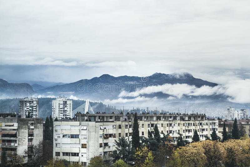 Bergmening Podgorica royalty-vrije stock afbeelding
