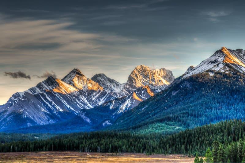 Bergmeningen stock afbeelding