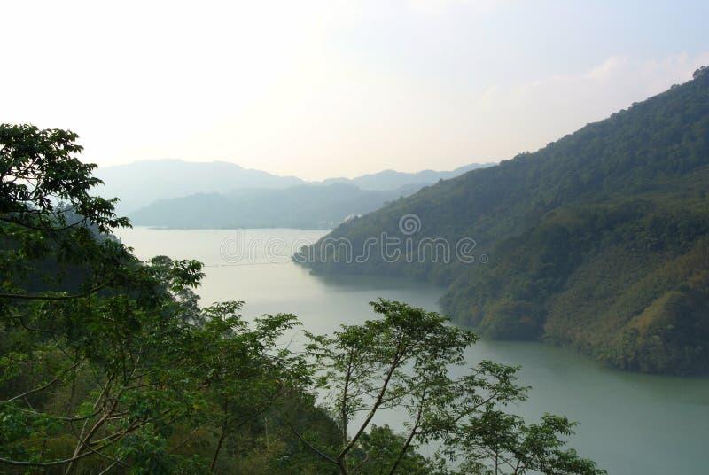Bergmeningen in Taoyuan Taiwan stock fotografie