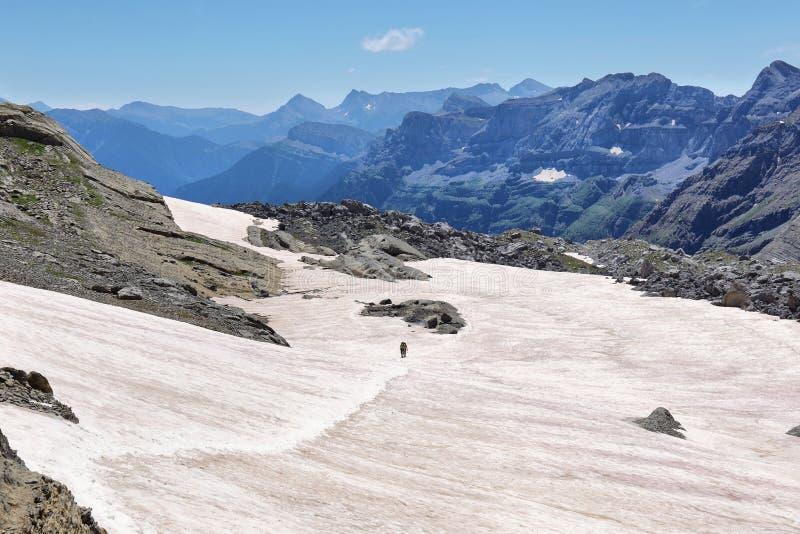 Bergmeningen van Pineta-Balkon, in het Nationale Park van Ordesa, Spanje royalty-vrije stock afbeelding
