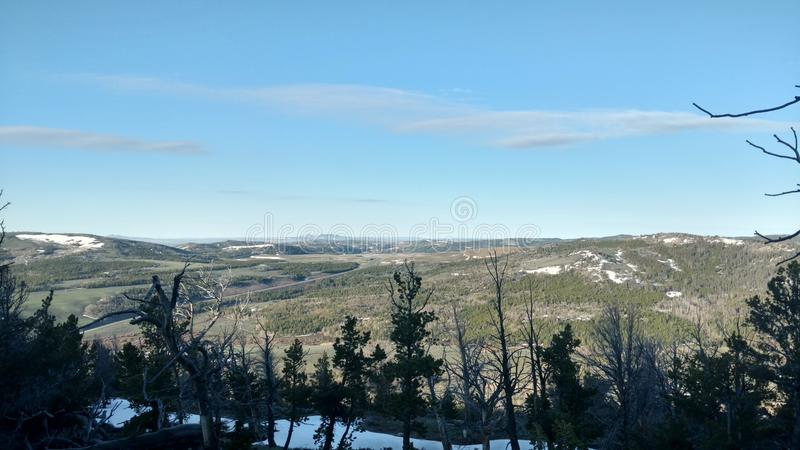 Bergmeningen in Wyoming royalty-vrije stock foto