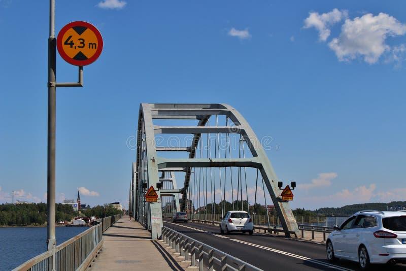 Bergnäsbron w LuleÃ¥ zdjęcie stock