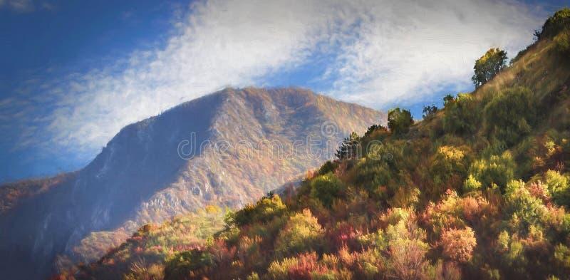 Bergnaturlandskap arkivbild