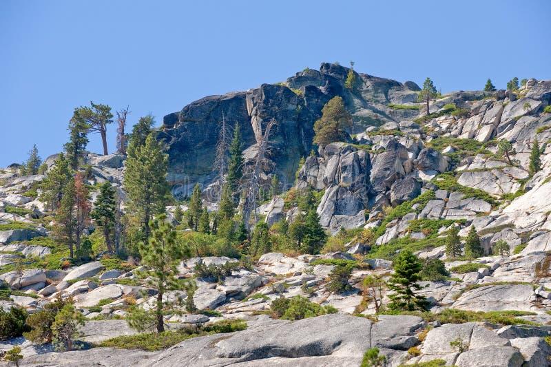 bergnevada scenisk toppig bergskedja royaltyfri foto