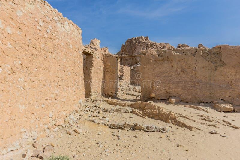 Bergoase Chebika in de woestijn van de Sahara, Tunesië stock afbeeldingen