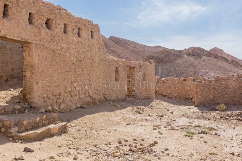 Bergoase Chebika in de woestijn van de Sahara, Tunesië stock afbeelding