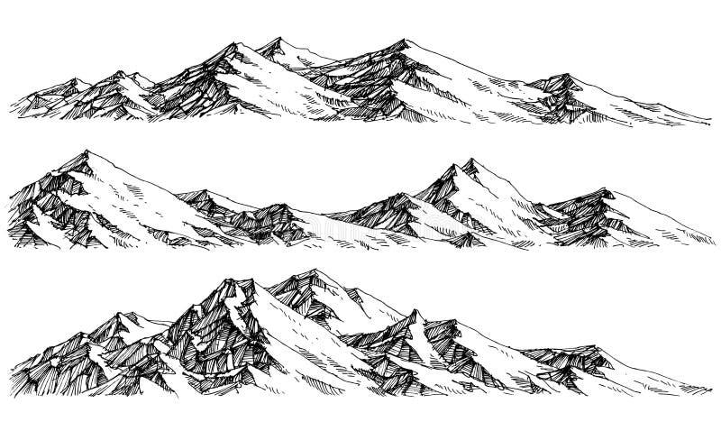 Bergområden royaltyfri illustrationer