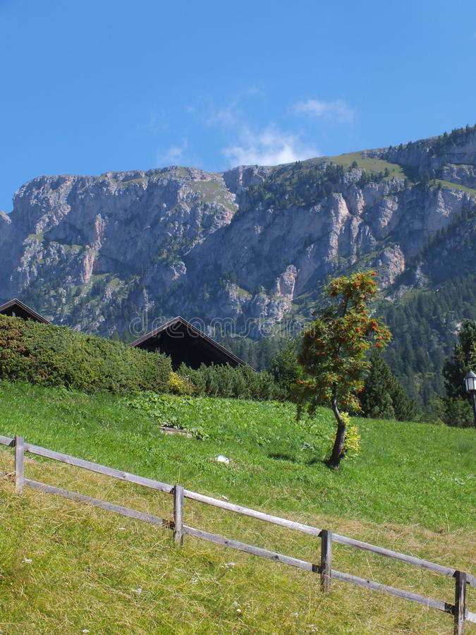 Bergpanorama arkivbild