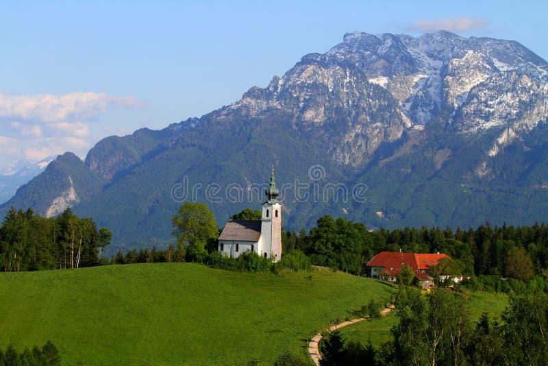 Bergpanorama i Alps arkivfoto