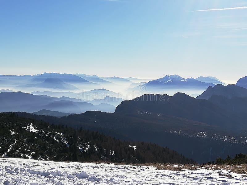 Bergpanorama obrazy stock