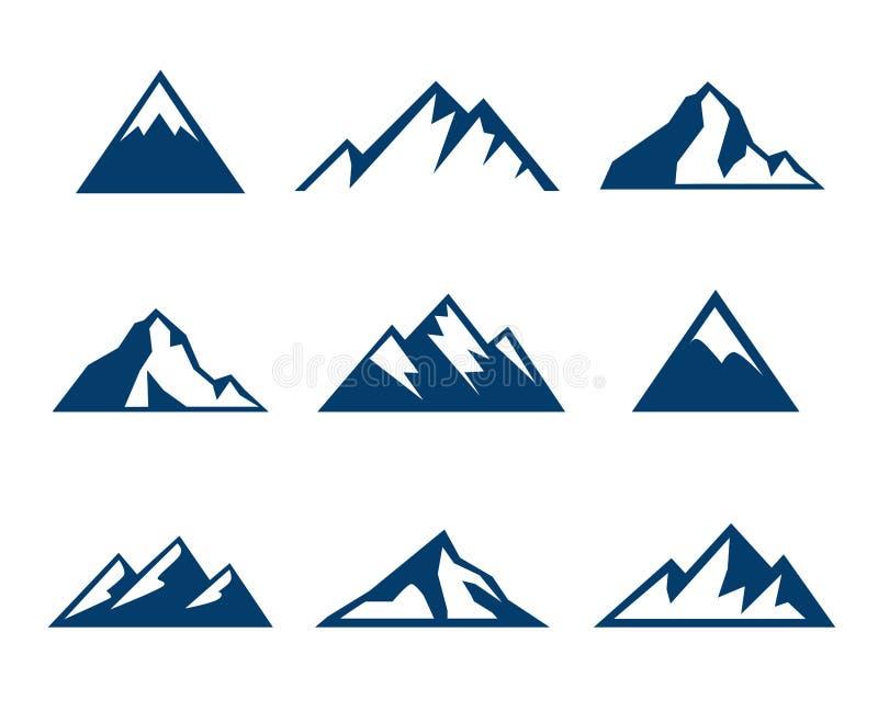 Bergpictogrammen - Symbolen stock illustratie