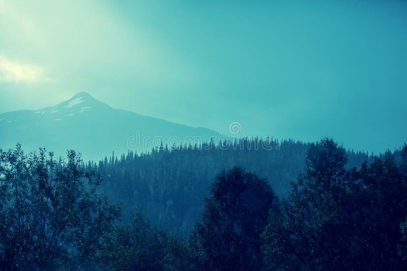 Bergpieken met sneeuw royalty-vrije stock afbeeldingen