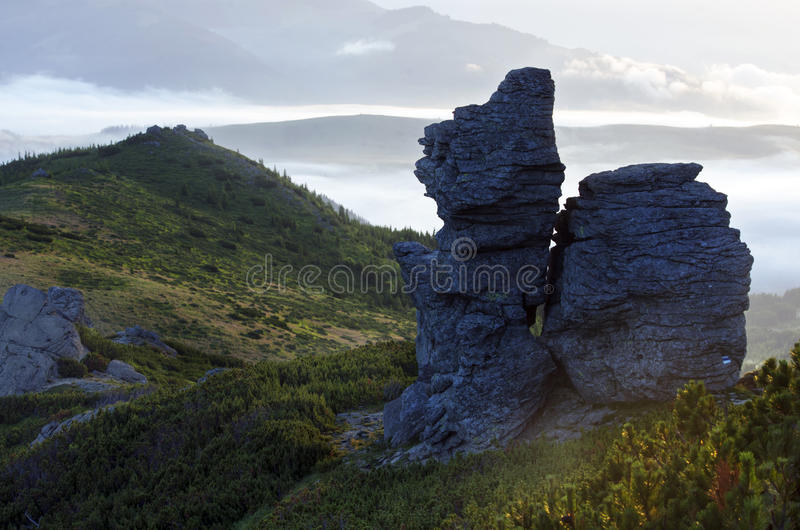 Bergplateau royalty-vrije stock foto's