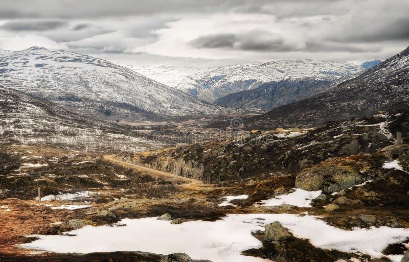 Bergplateau, Noorwegen royalty-vrije stock foto