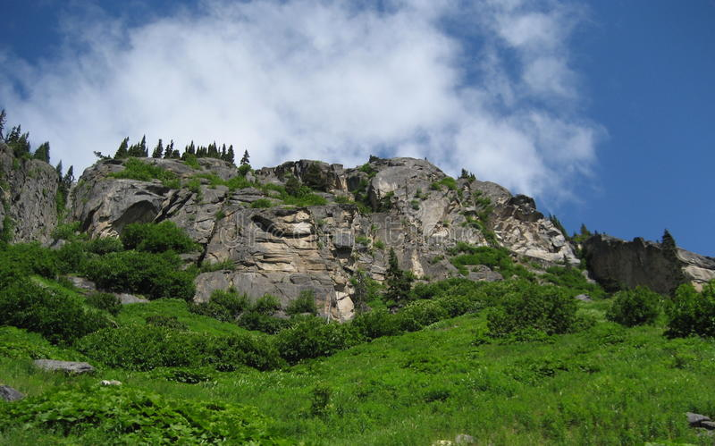Bergplats Alaska arkivbild