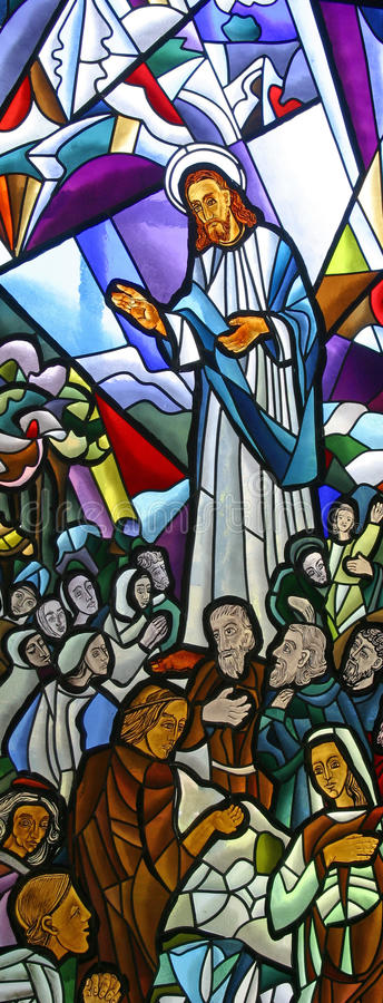 Bergpredigt stockbild