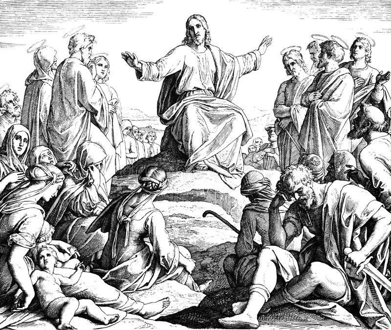 Bergpredigt lizenzfreies stockbild