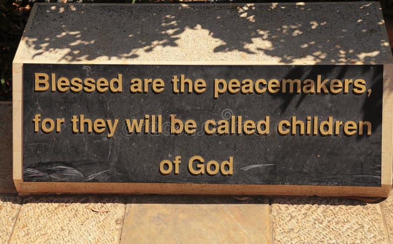 Bergpredigt (die Glückseligkeiten), Israel stockfotos