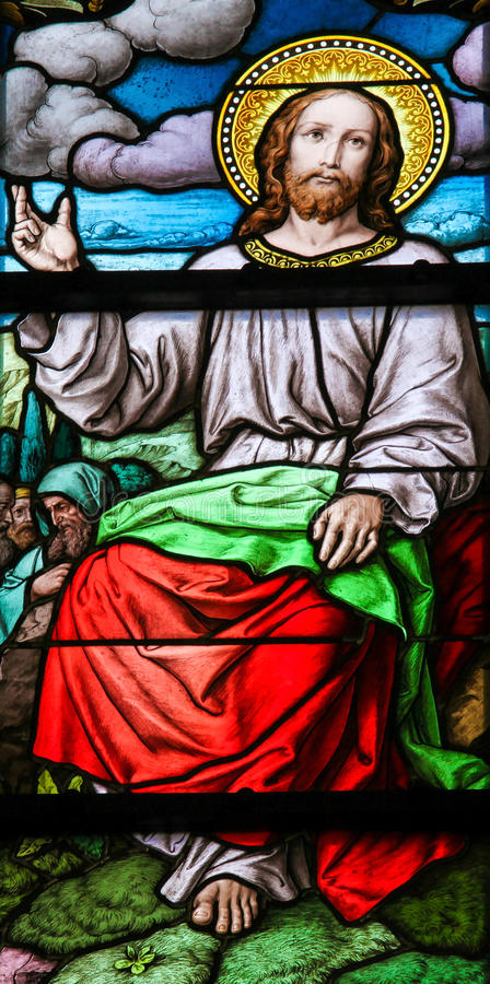 Bergpredigt durch Jesus Christ lizenzfreies stockbild