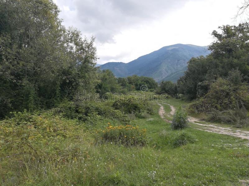 BergRila Bulgarien fotografering för bildbyråer
