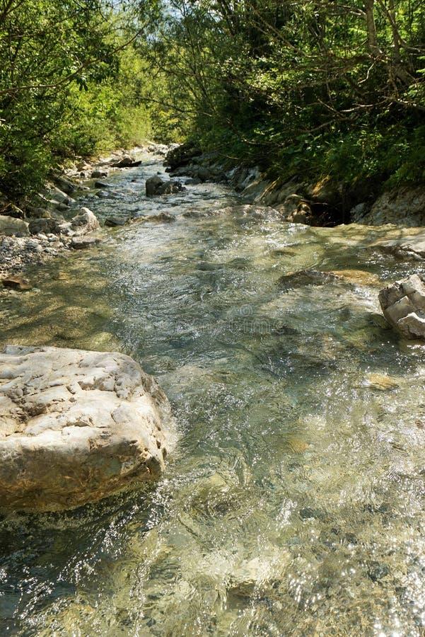 Bergrivier in de Tiroolse Alpen royalty-vrije stock afbeeldingen