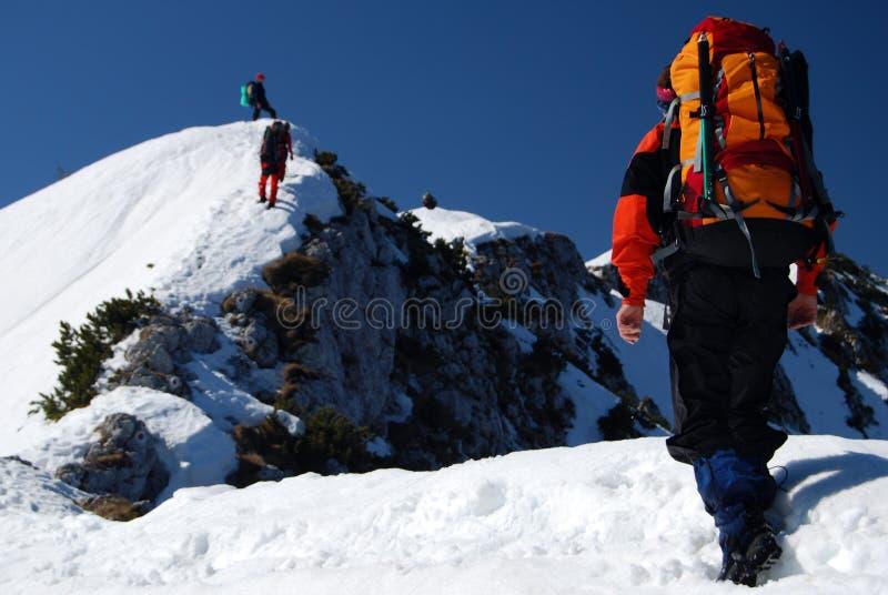 bergsbestigning royaltyfri bild